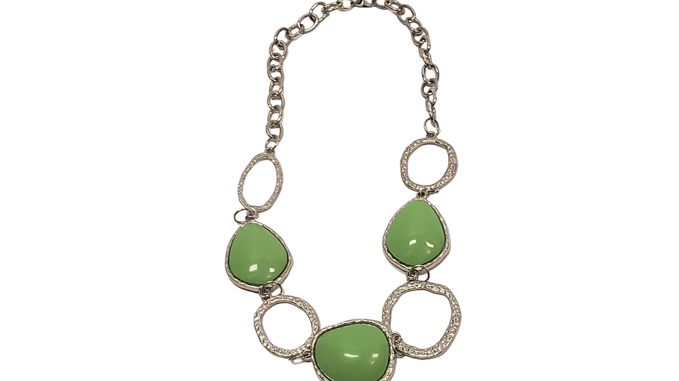 Green &Silver Necklace Set