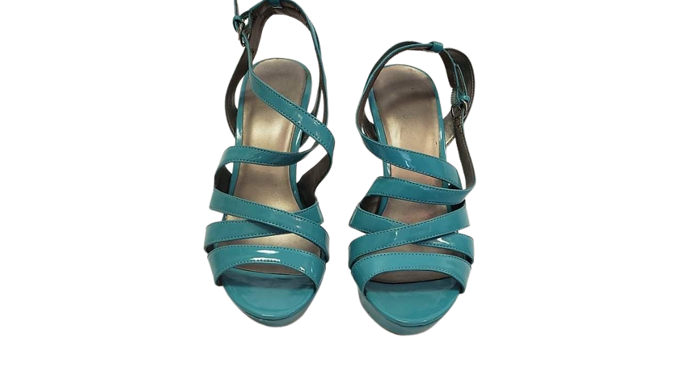 PRE-LOVED 9M Guess GG Habanra Turquoise Stilettos