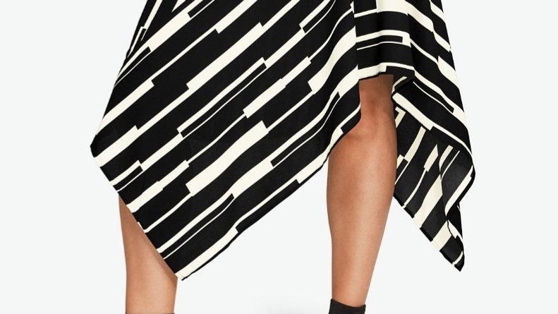 18 Ellos Black & White Asymmetric Skirt