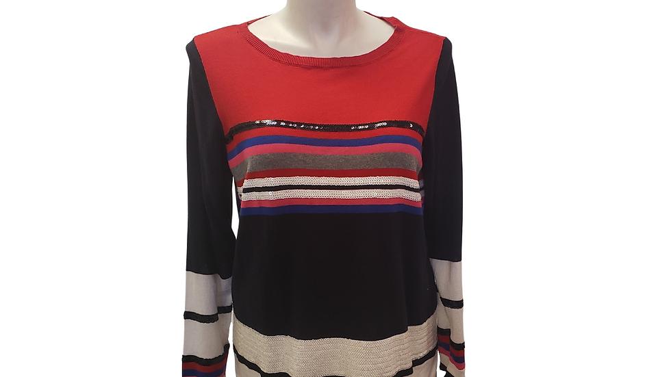 PRE-LOVED Liz Claiborne Stripe Sweater