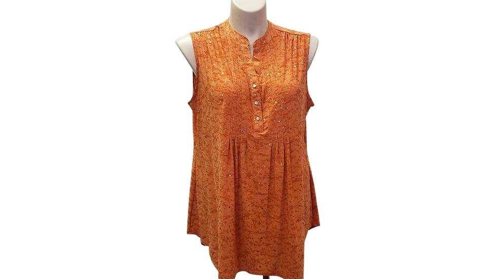 2x Cocomo Woman Orange Sequin Tunic
