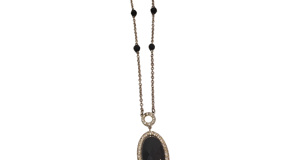 PRE-LOVED George Black Studded Necklace