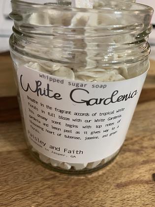 White Gardenia Whipped Sugar Soap