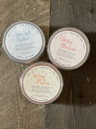 Heart & Soul ~ Body Glow Sugar Scrubs