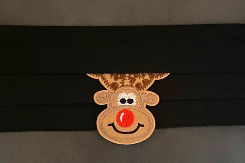Black with Reindeer Cocktail Mask!