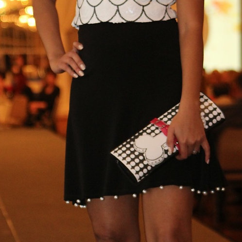 "Black ""Pearl"" Skirt"