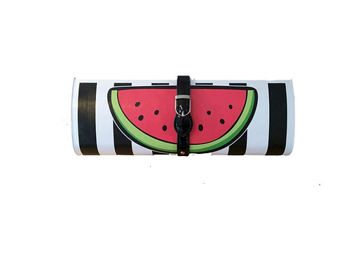 Black Stripe/Watermelon  Clutch Bag
