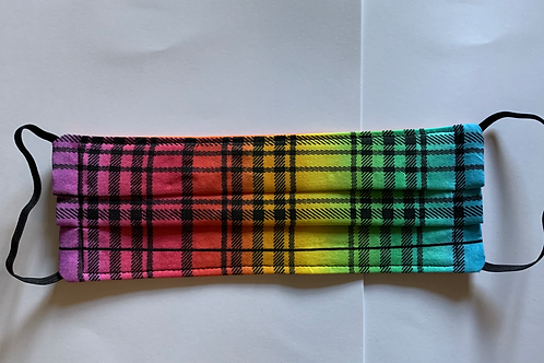 Rainbow Plaid Mask
