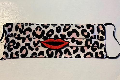"""""""COCKTAIL"""" Pink Leopard Mask"""