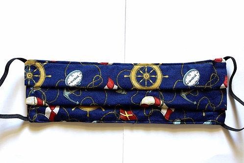 Blue/Ship's Wheel Nautical Mask