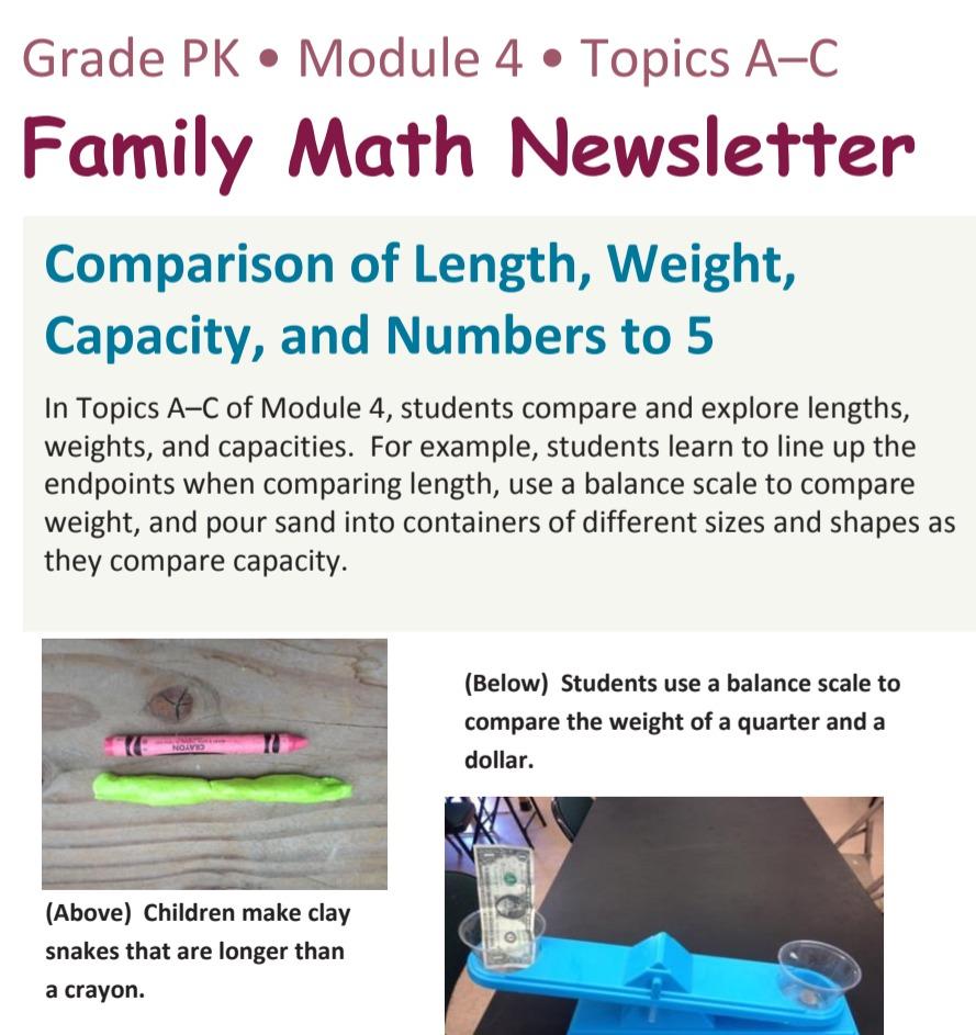 Family Math Newsletter