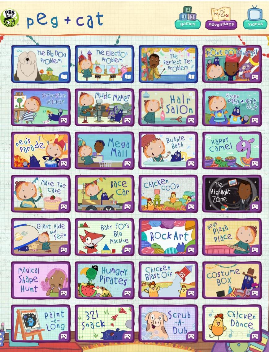 PBS Peg & Cat Games
