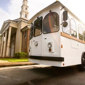 Wedding trolley _ Miami Coral Gable White Trolley Wedding Transportation.jpg.jpg