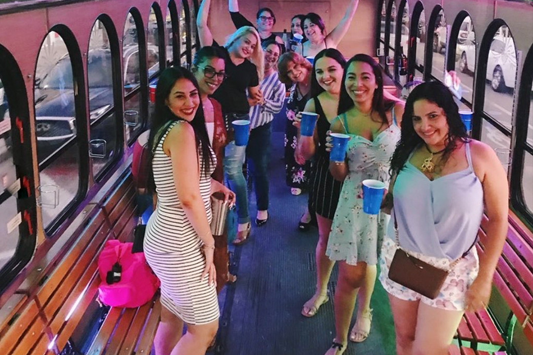 Party Trolley Interior