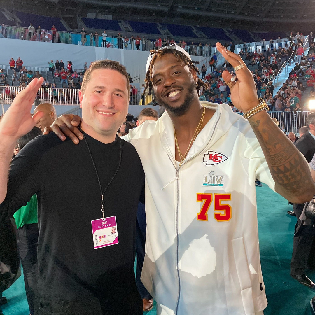 CEO Alexander Onaindia and NFL Player Super Bowl Champion Cam Erving