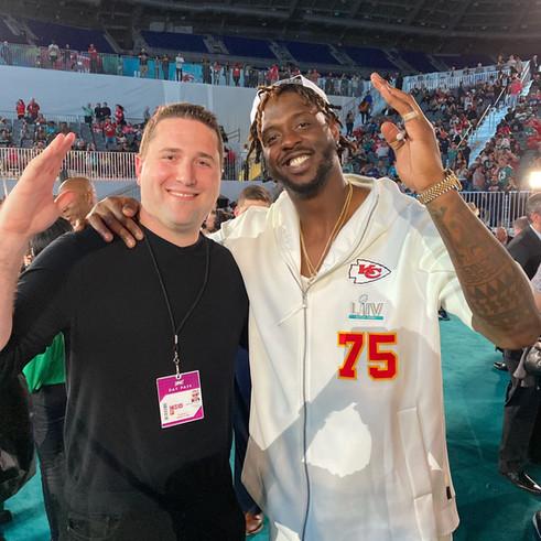 CEO Alexander Onaindia and NFL Player Super Bowl Champion Cam Erving