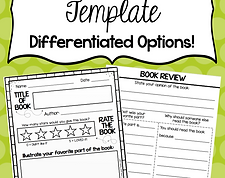 free book review template