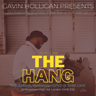 Reserve your ticket here for Gavin & 'The Hang' on 3rd November @ 7pm!