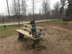Suzana chilling at park