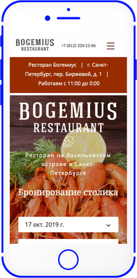 Мобильная версия сайта www.bogemius.ru