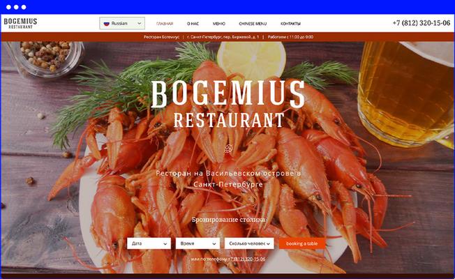 Главная страница сайта www.bogemius.ru