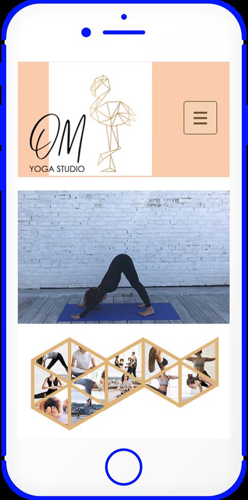 Мобильная версия персонально страницы тренера йоги