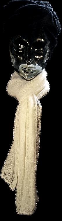 Viscose 19 White tørklæde