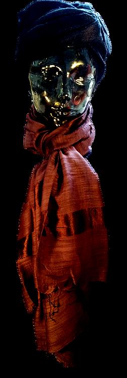 Bordoux Silke & Bomuld Tørklæde