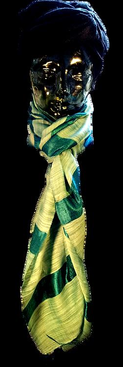 Turkis Silke & Bomuld Tørklæde