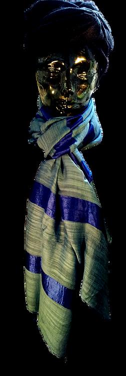 Blå Silke & Bomuld Tørklæde Engros