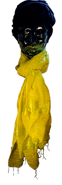 Lime Silke & Bomuld Tørklæde