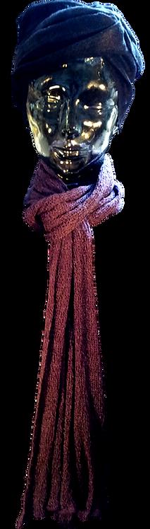 Viscose 112 Marine tørklæde