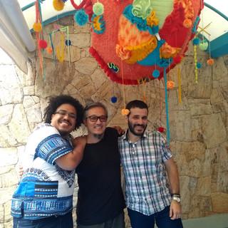 Com Hélio Gomes e Rodrigo Bueno