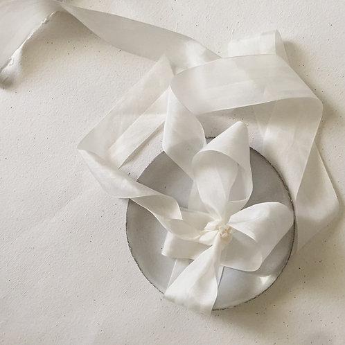 White Silk Ribbon
