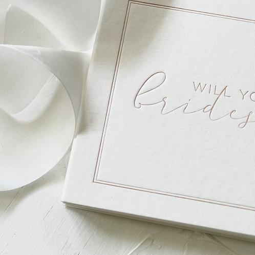 Letterpress 'Bridesmaid Card'