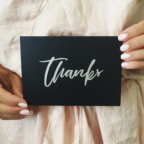 Silver Foil Pressed 'Thanks'