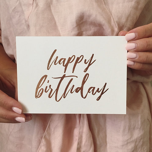 Gold Foil Pressed 'Happy Birthday'