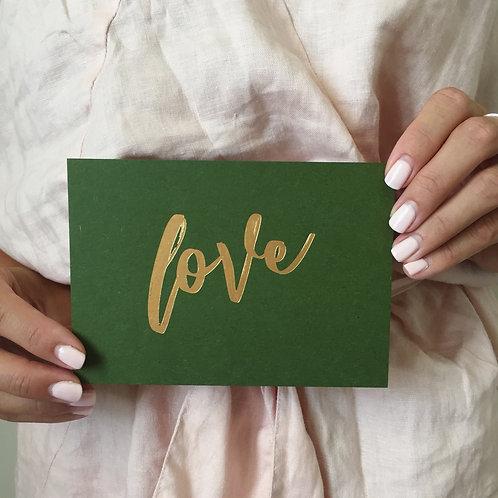 Gold Pressed Foil 'Love'