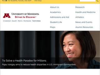PJ featured on the U home page