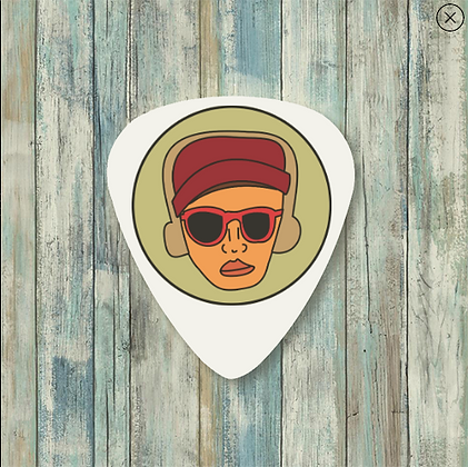 Cartoon Logo Guitar Pick (GLOW IN THE DARK!)