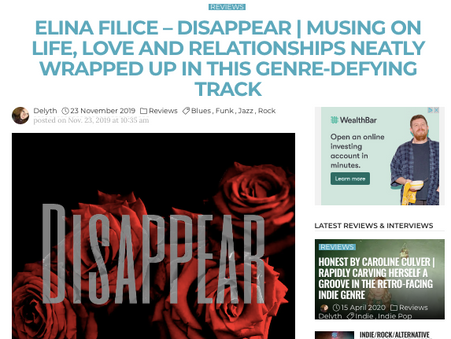 """Acclaim for """"Disappear"""""""