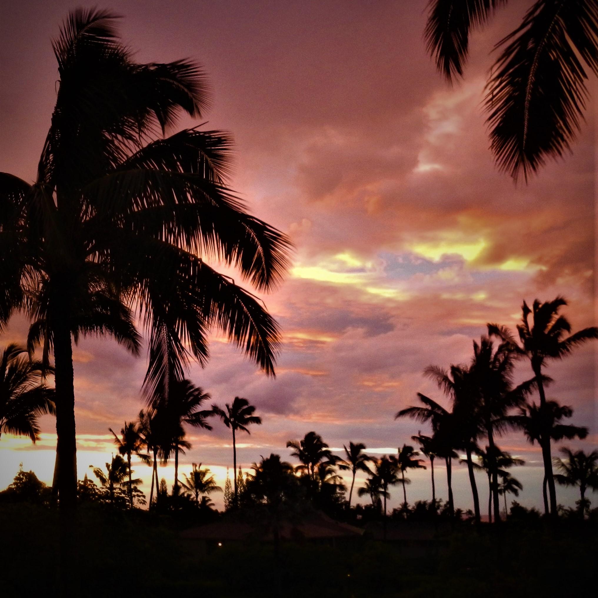Main lanai sunset