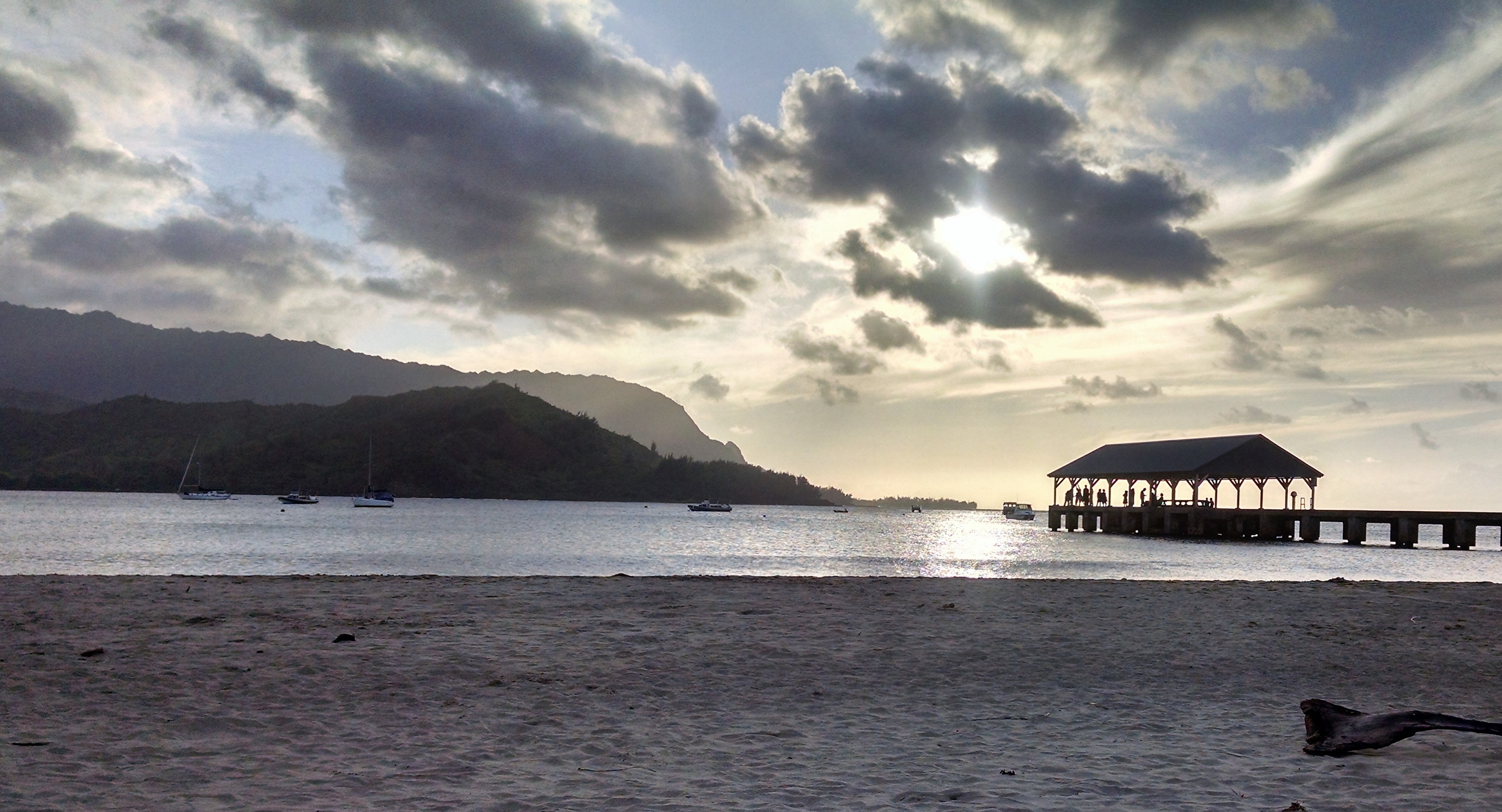 Hanalei Bay/Napali Coast sunset