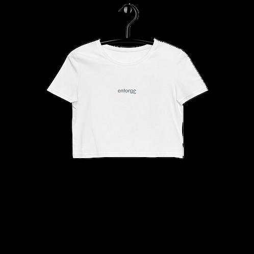 White Organic Crop Top EntorgƐ