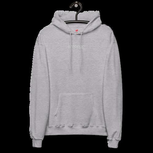 Grey Oversized EntorgƐ Fleece Hoodie