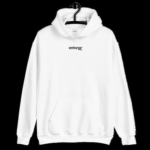 White Oversized Unisex Hoodie with EƐ Logo