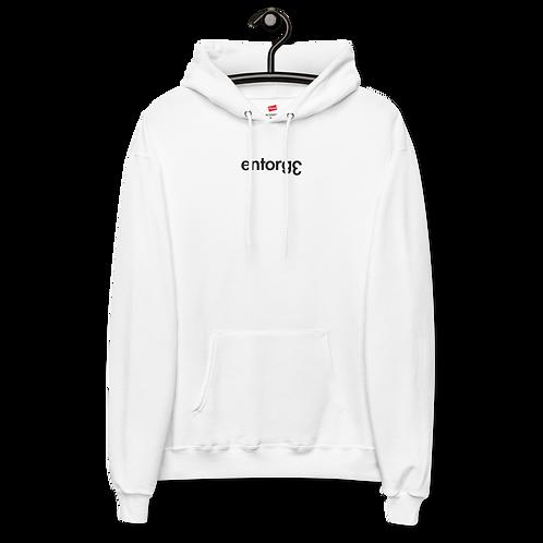 White Oversized EntorgƐ Fleece Hoodie