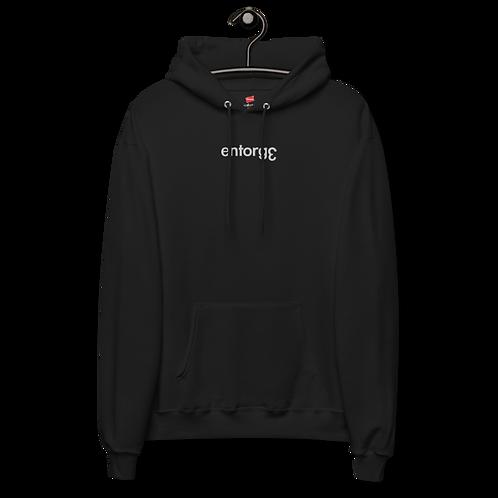Black Oversized EntorgƐ Fleece Hoodie