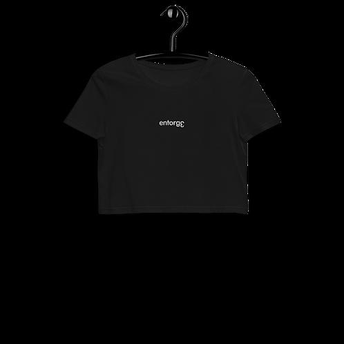 Black Organic Crop Top EntorgƐ