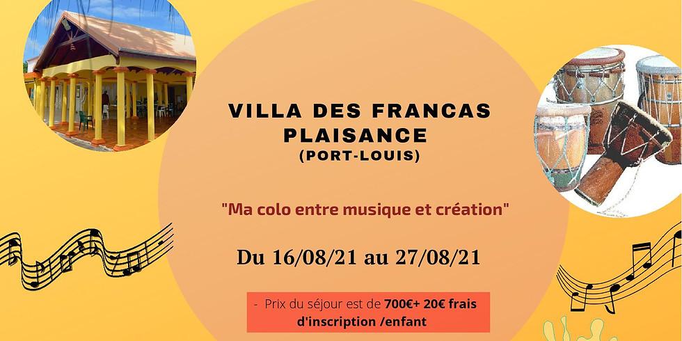 """Colo classique -""""Ma colo entre musique et création"""" (Port-Louis)"""
